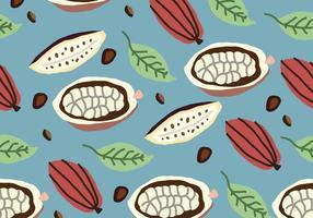 Motif de cacao coloré vecteur
