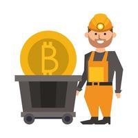 symboles d'argent numérique crypto-monnaie bitcoin