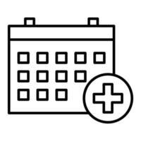 icône de rendez-vous médical vecteur