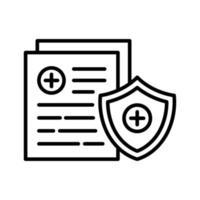 icône d & # 39; assurance médicale vecteur