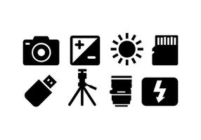 Pack d'icônes de caméra vecteur