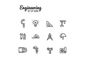 Ensemble d'icônes d'ingénierie vecteur