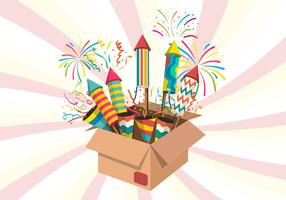 Noise Maker Firework Vector Illustration