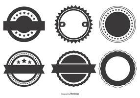 Collection de formes d'insignes vectorielles vierges vecteur