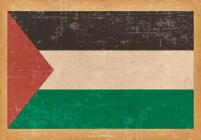 Drapeau grunge de la Palestine vecteur