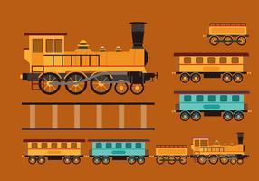 Vecteur gratuit vintage caboose