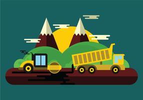 Illustration du travail routier