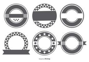 Collection de formes de badges rétro en blanc vecteur