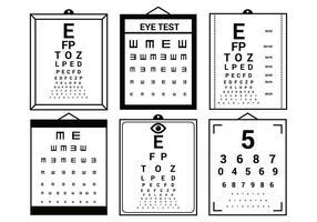 Ensemble de jeu de test d'oeil vecteur