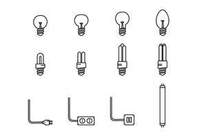 Icône Led Lights vecteur