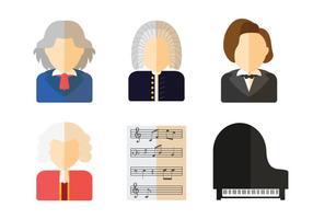 Grand vecteur de compositeur