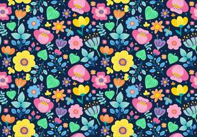 Seamless Ditsy Floral Pattern vecteur