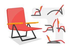 Vecteurs exclusifs de chaise à gazon vecteur