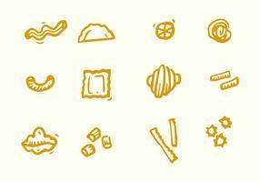 Icône variée de pâtes