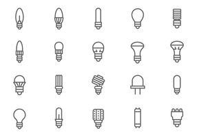 Vecteurs de lumières led libres vecteur