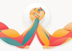 Arm Wrestling Illustration Template