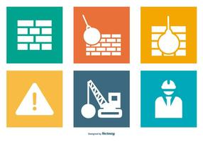 Collection d'icônes de construction / démolition vecteur