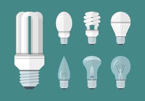 Collection de luminaires Led Lights vecteur