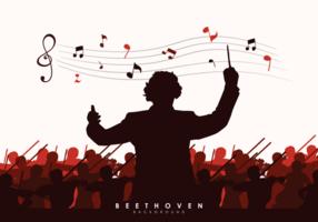 Illustration Vectorielle de Beethoven vecteur