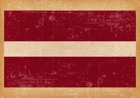 Drapeau grunge de la Lettonie vecteur