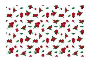 Vecteur libre de fleurs rouges ditsy