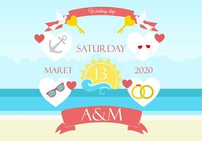 Invitation gratuite de fond de mariage de plage