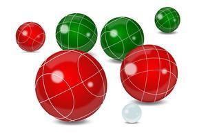 Boule de boules réaliste vecteur