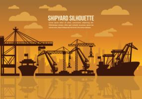 Illustration vectorielle du chantier naval
