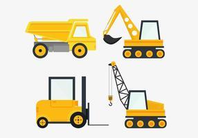 Vecteur de véhicules de construction
