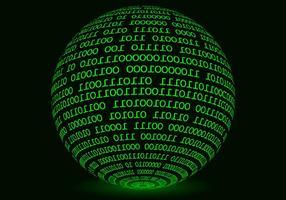 Vecteur de fond de matrice de sphère incandescent