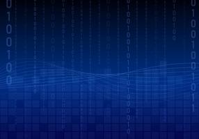 Vecteur de fond de matrice d'onde