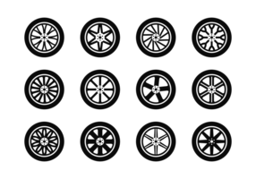 Vecteur d'icônes en roues en alliage