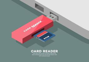 Illustration de lecteur de carte vecteur