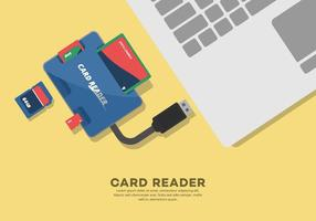 Illustration de lecteur de carte externe vecteur