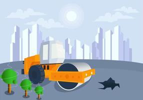 Construction dans Future City Vector