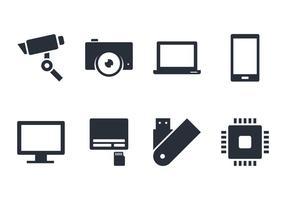Icône et accessoires de gadget