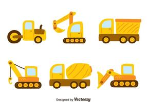 Vecteurs de machines de construction