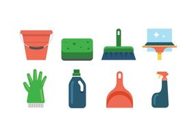 Outils de nettoyage icônes vectorielles vecteur