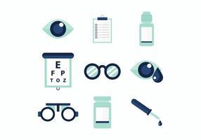 Icônes vectorielles gratuites pour les médecins des yeux vecteur