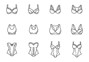 Bustier icons vector