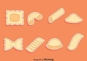 Vecteurs de collection de variation de pâtes vecteur