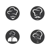 jeu d'icônes de chef vecteur