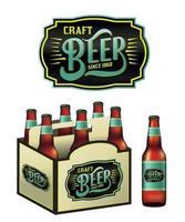 bouteilles de bière artisanale