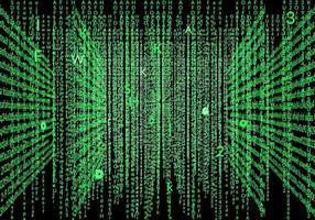 Vecteur de fond de matrice cool