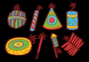 Diwali Fire Cookies icônes vecteur