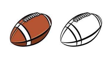 ballon de football américain vecteur