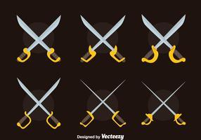 Vecteur de collection Nice Cross Sword
