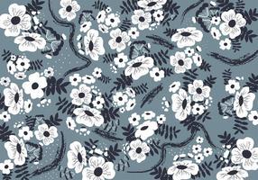 Art floral sans couture de Ditsy vecteur