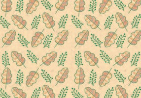 Ditsy Leaf Pattern Vector