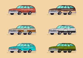 Cool station wagon vector